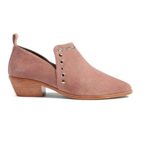 REBECCA MINKOFF Pink Annette Suede Ankle Boots